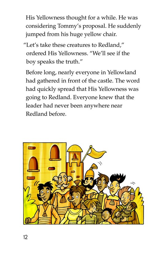 Book Preview For Tommy Goes to Yellowland Page 12