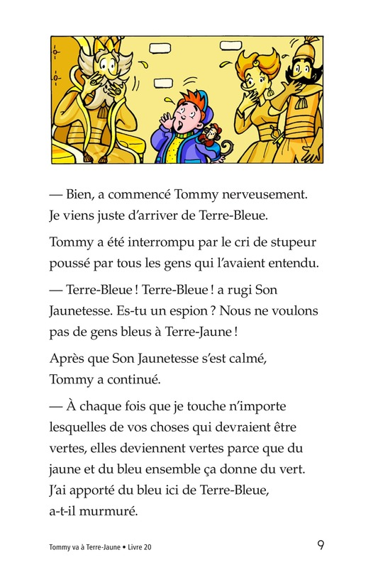 Book Preview For Tommy Goes to Yellowland Page 9