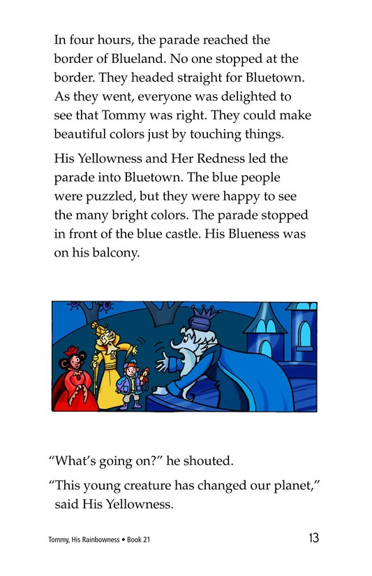 Book Preview For Tommy, His Rainbowness Page 13