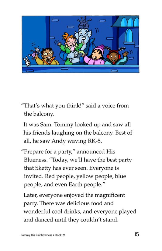 Book Preview For Tommy, His Rainbowness Page 15