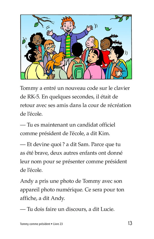 Book Preview For Tommy For President Page 13