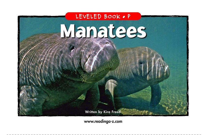 Book Preview For Manatees Page 1