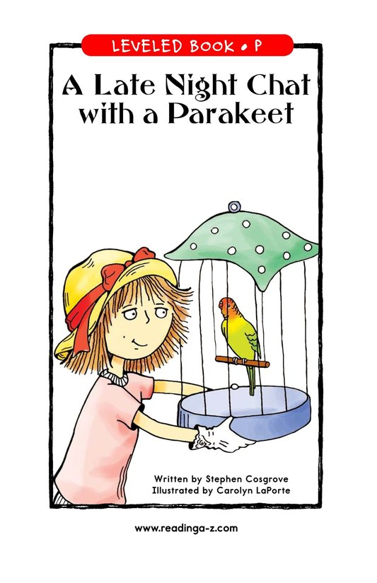 Book Preview For A Late Night Chat with a Parakeet Page 1