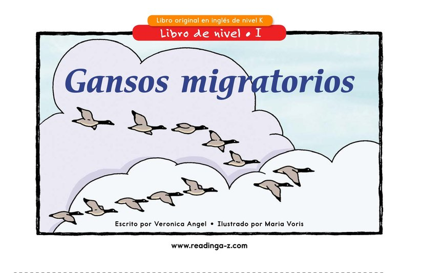 Book Preview For Migrating Geese Page 1