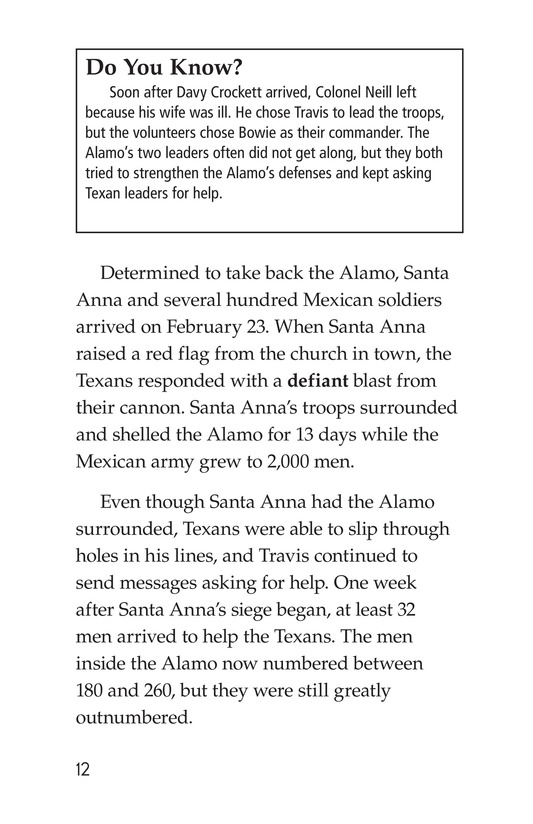 Book Preview For Remembering the Alamo Page 12