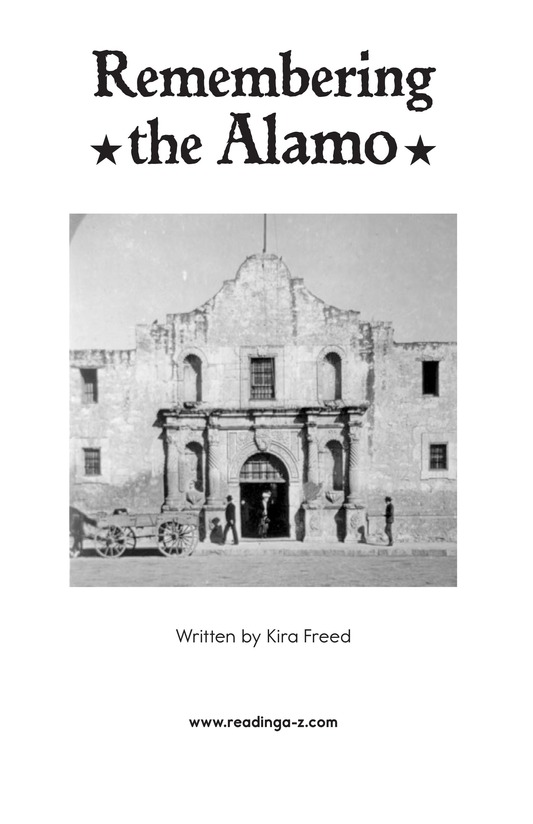Book Preview For Remembering the Alamo Page 2