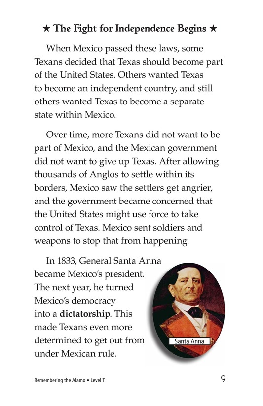Book Preview For Remembering the Alamo Page 9