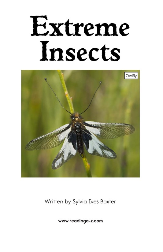 Book Preview For Extreme Insects Page 2