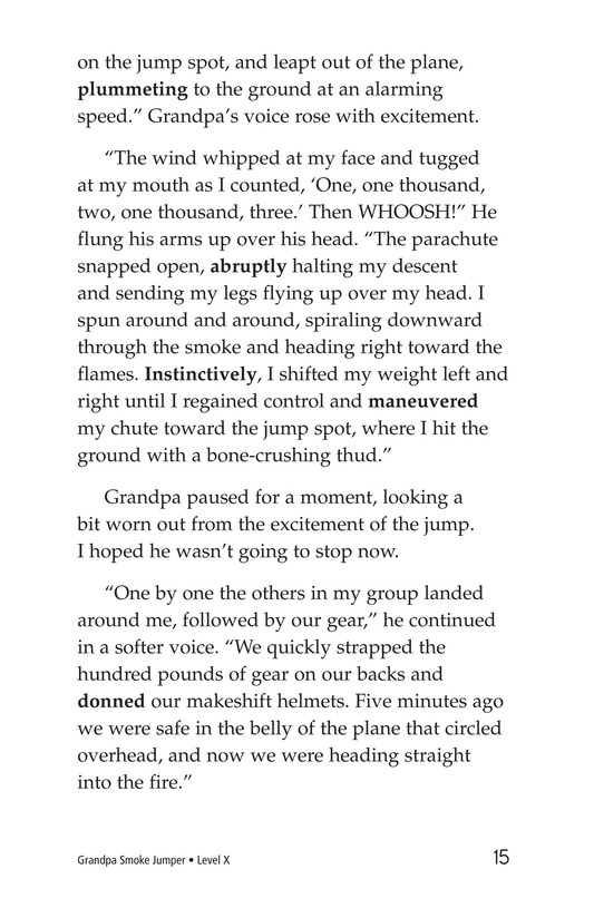 Book Preview For Grandpa Smoke Jumper Page 15