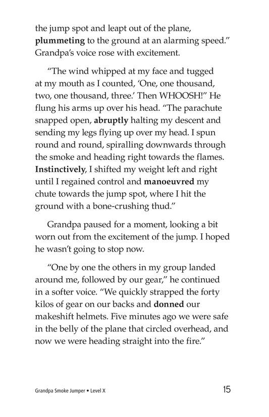 Book Preview For Grandpa Smoke Jumper Page 15