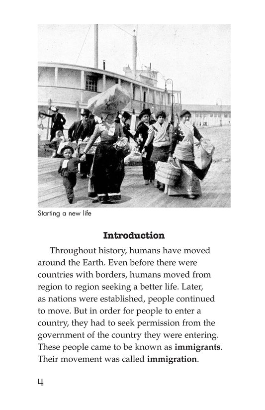 Book Preview For The Story of Immigration Page 4