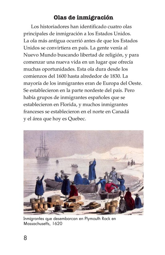 Book Preview For The Story of Immigration Page 8