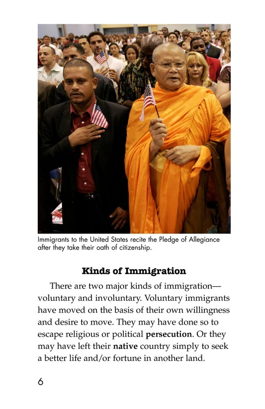 Book Preview For The Story of Immigration Page 6