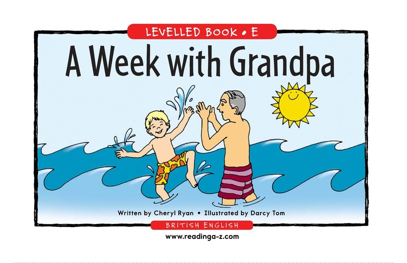 Book Preview For A Week With Grandpa Page 1