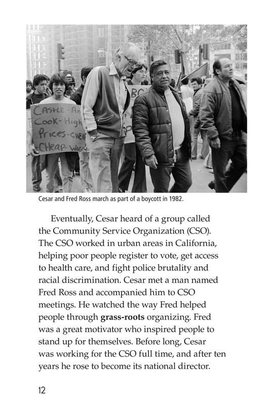 Book Preview For The Life of Cesar Chavez Page 12