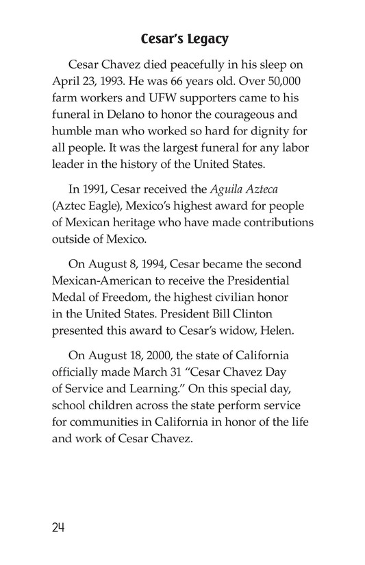 Book Preview For The Life of Cesar Chavez Page 24