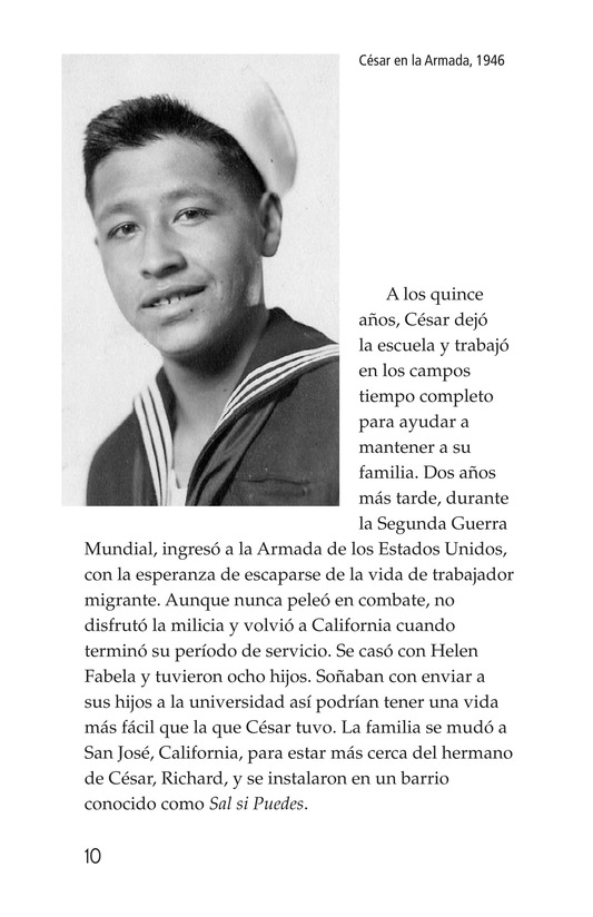 Book Preview For The Life of Cesar Chavez Page 10