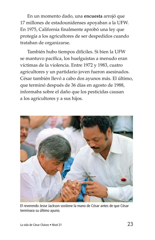 Book Preview For The Life of Cesar Chavez Page 23