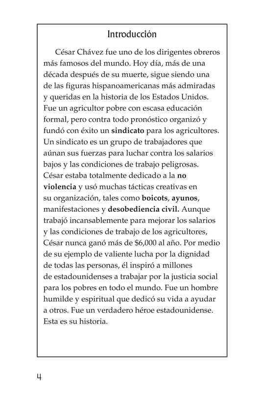 Book Preview For The Life of Cesar Chavez Page 4
