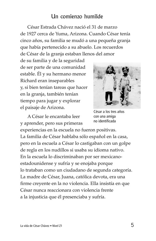 Book Preview For The Life of Cesar Chavez Page 5