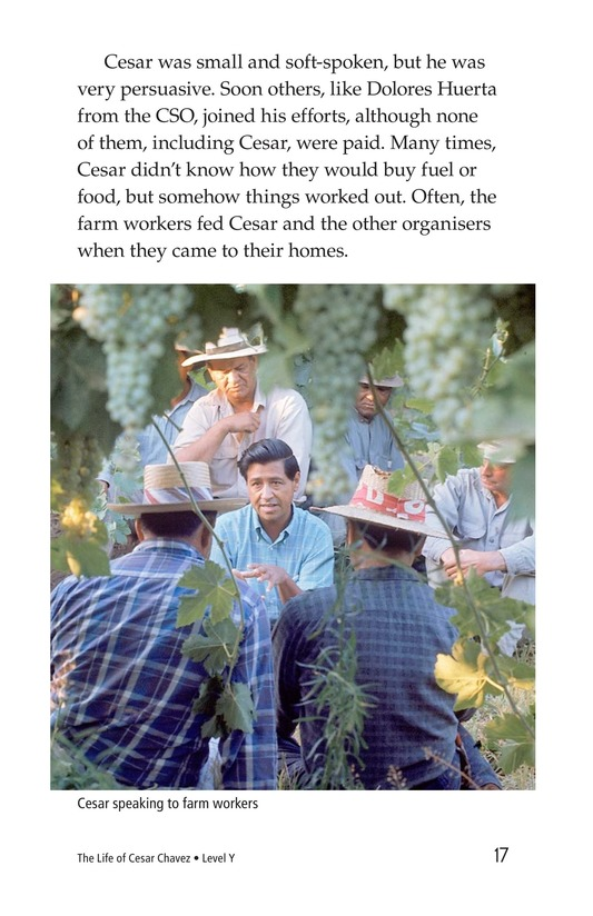 Book Preview For The Life of Cesar Chavez Page 17