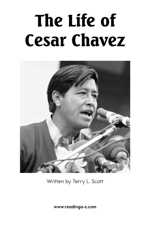 Book Preview For The Life of Cesar Chavez Page 2