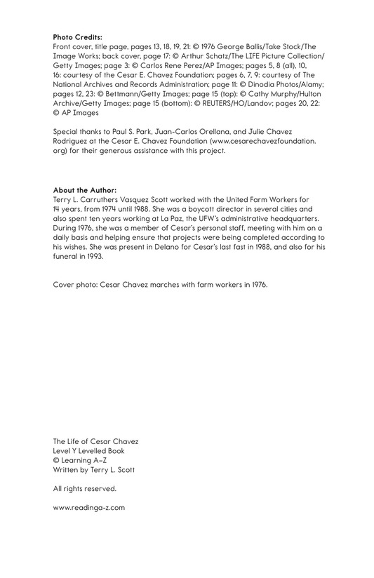 Book Preview For The Life of Cesar Chavez Page 27