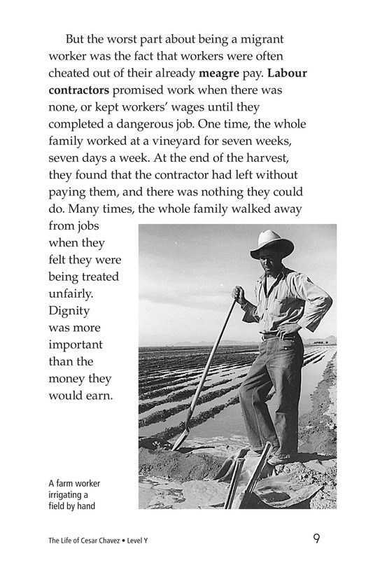 Book Preview For The Life of Cesar Chavez Page 9