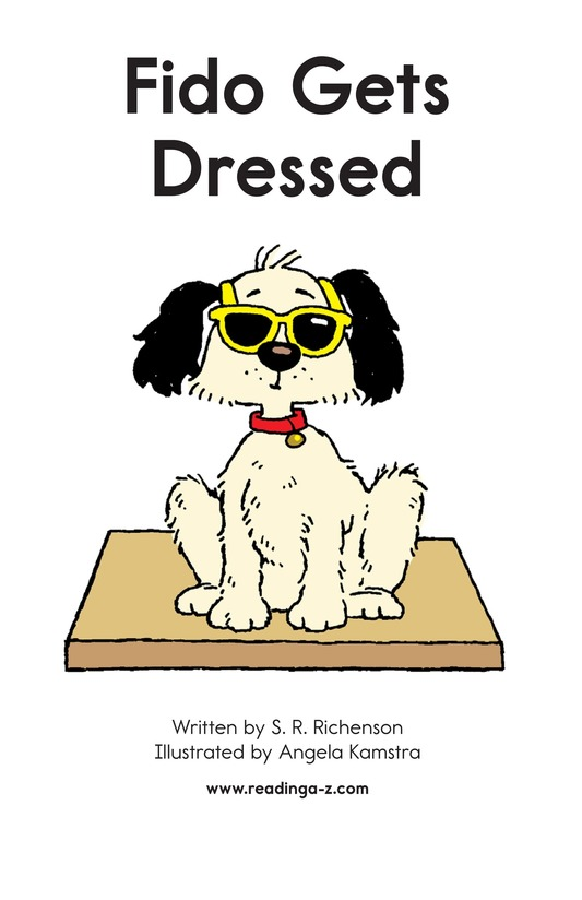Book Preview For Fido Gets Dressed Page 2