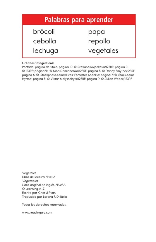 Book Preview For Vegetables Page 2