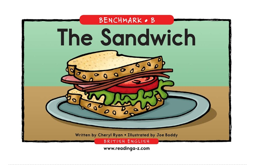Book Preview For The Sandwich Page 1