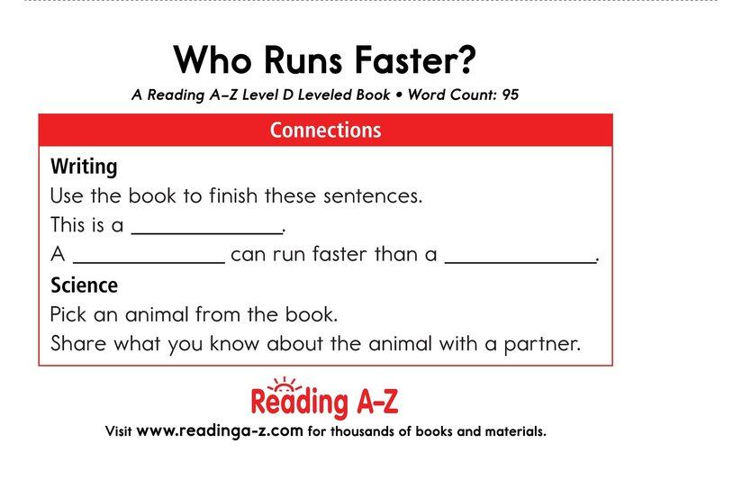 Book Preview For Who Runs Faster? Page 11