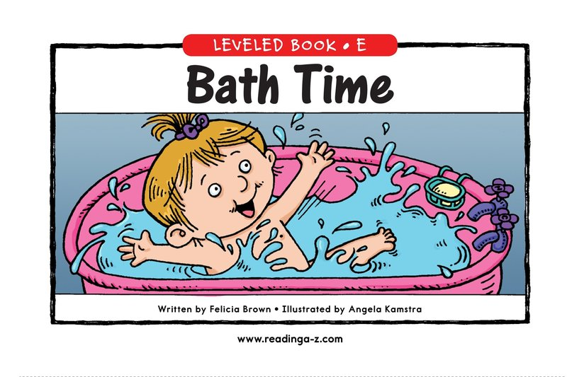 Book Preview For Bath Time Page 0