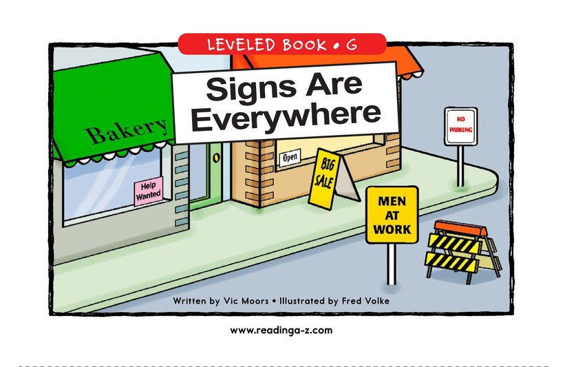 Book Preview For Signs Are Everywhere Page 1