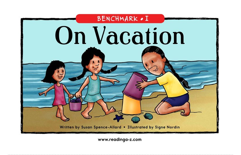 Book Preview For On Vacation Page 1