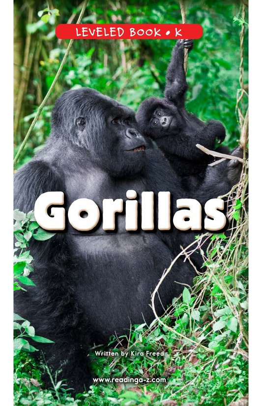 Book Preview For Gorillas Page 0