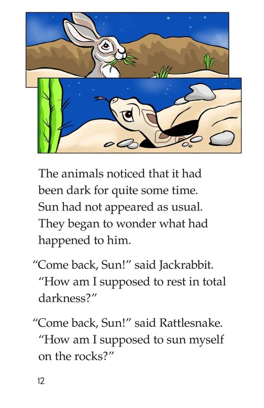 Book Preview For Go Away, Sun! Page 12