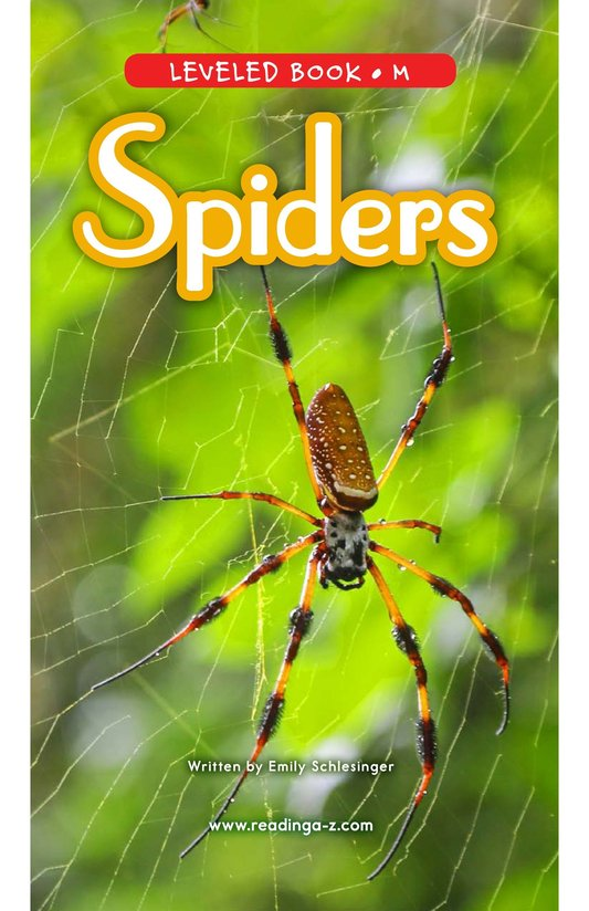 Book Preview For Spiders Page 0