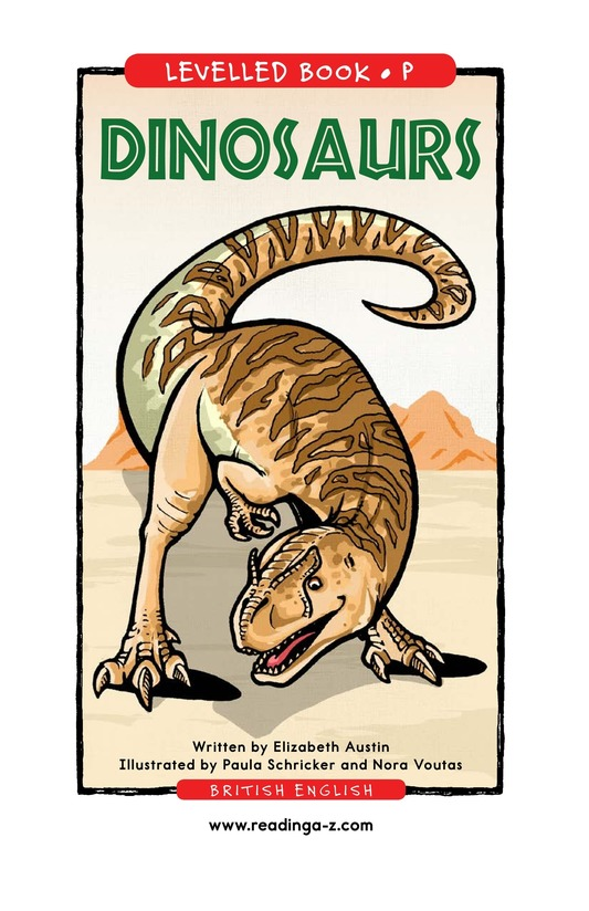 Book Preview For Dinosaurs Page 0