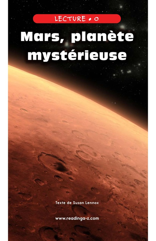 Book Preview For Mysterious Mars Page 0