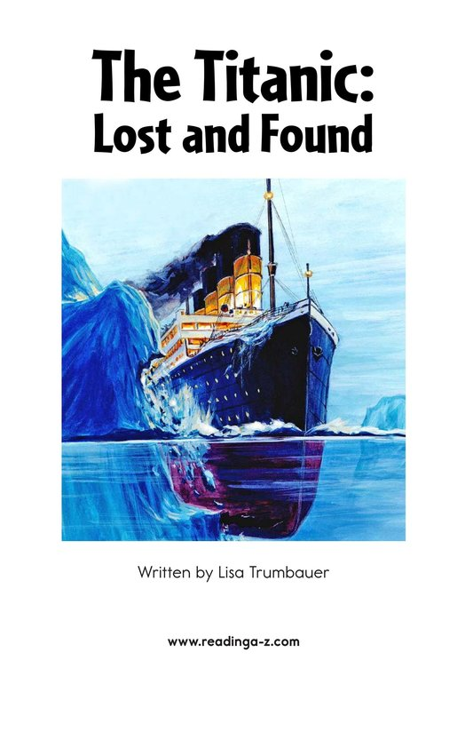 Book Preview For The Titanic: Lost and Found Page 2