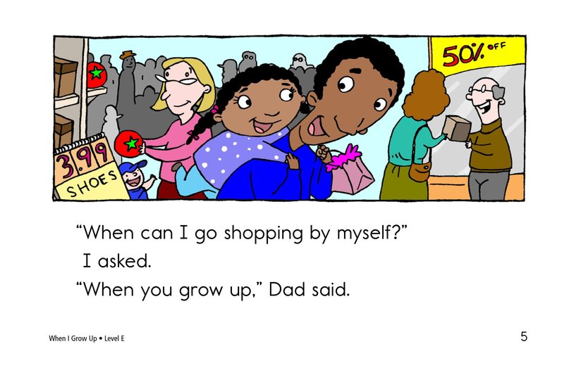 Book Preview For When I Grow Up Page 5