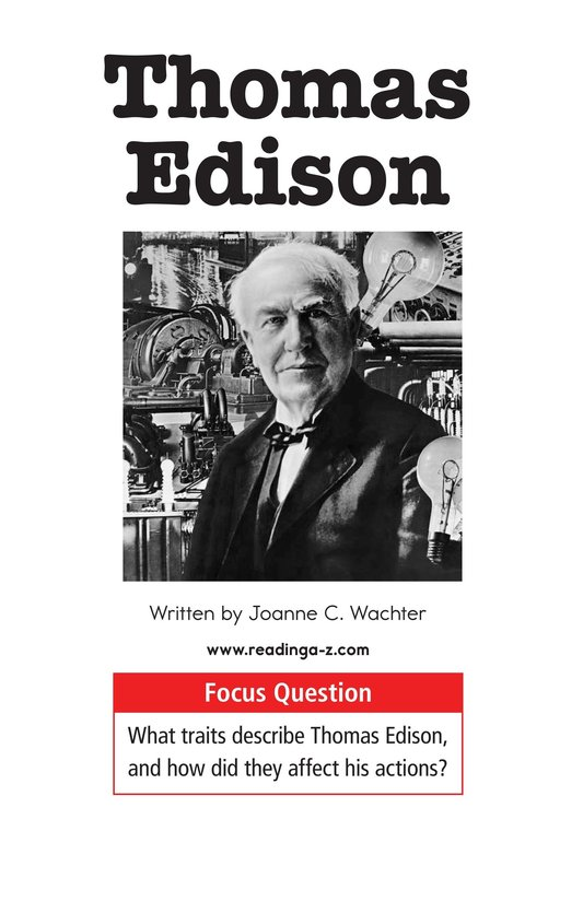 Book Preview For Thomas Edison Page 1