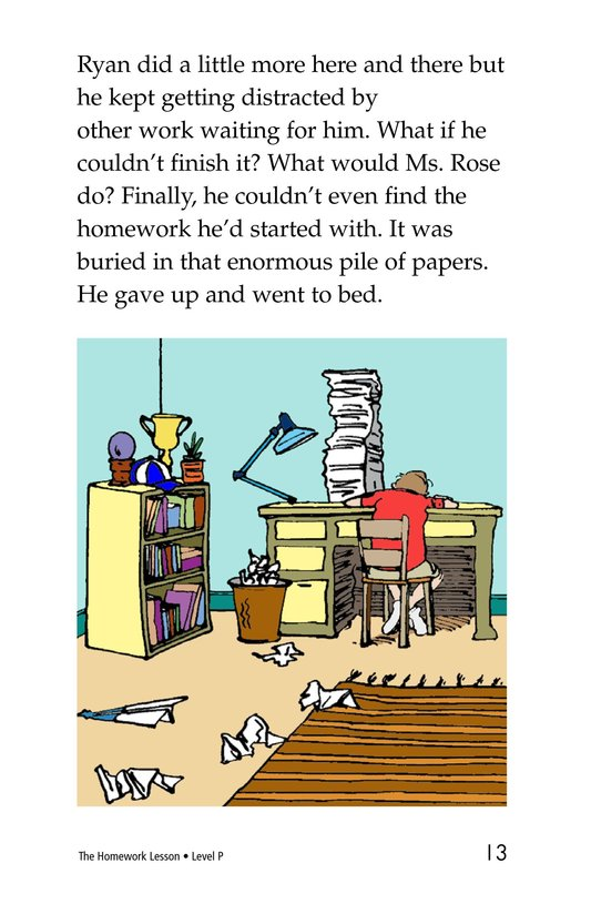 Book Preview For The Homework Lesson Page 13