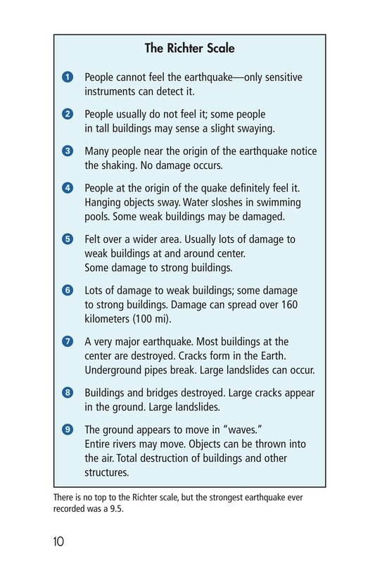Book Preview For Earthquakes, Volcanoes, and Tsunamis Page 10