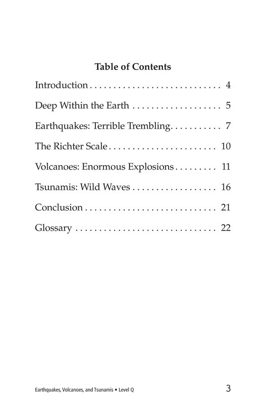 Book Preview For Earthquakes, Volcanoes, and Tsunamis Page 3