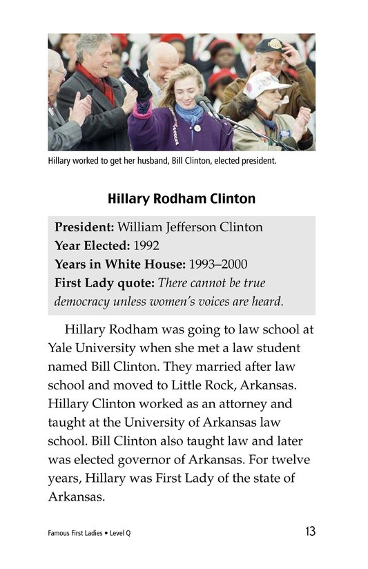 Book Preview For Famous First Ladies Page 13