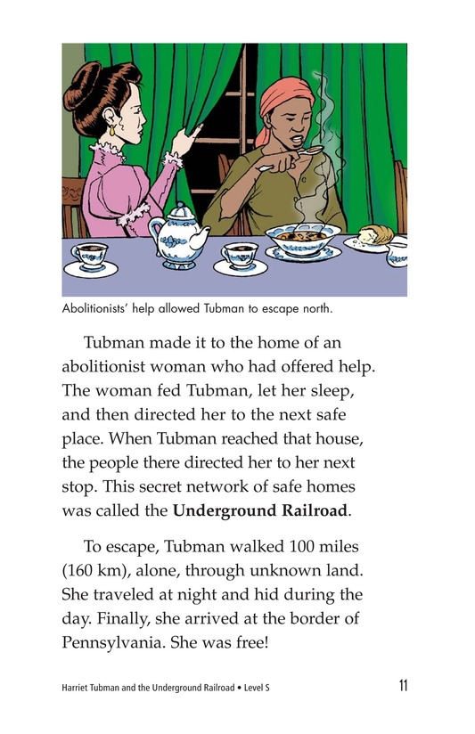 Book Preview For Harriet Tubman and the Underground Railroad Page 11