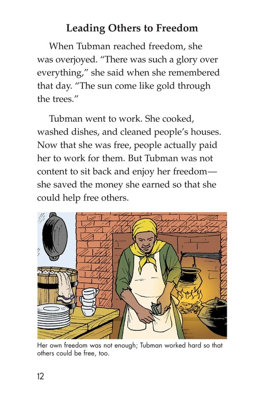 Book Preview For Harriet Tubman and the Underground Railroad Page 12