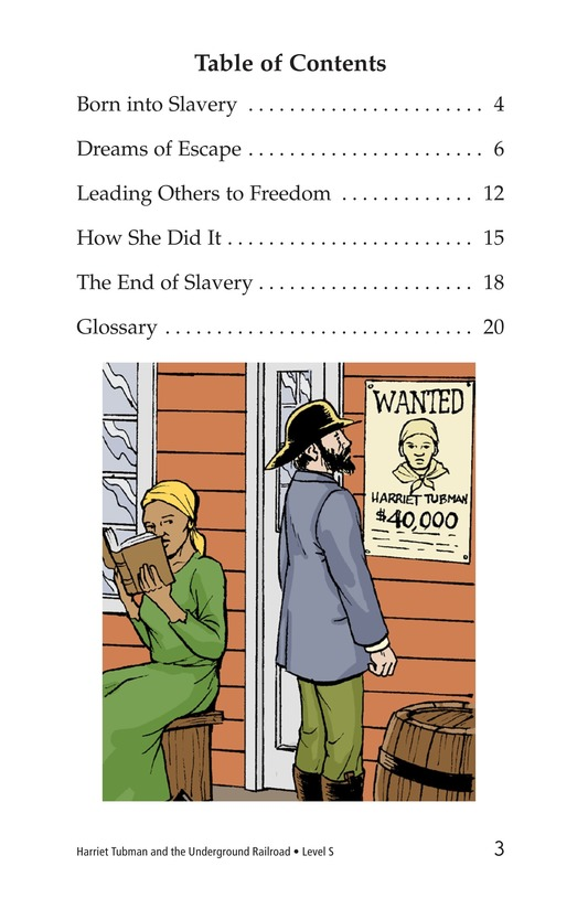 Book Preview For Harriet Tubman and the Underground Railroad Page 3